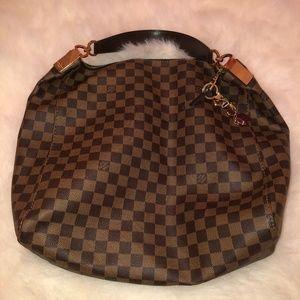 Louis Vuitton Damier Ebene Portobello GM Brown Bag